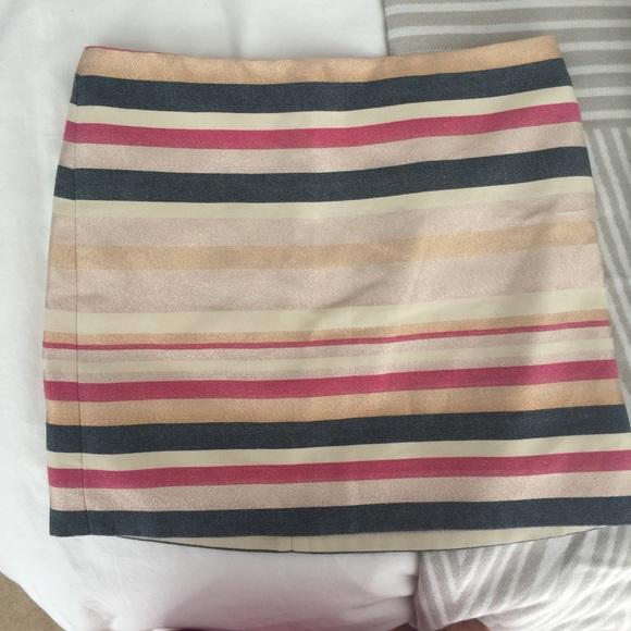 J. Crew Factory Dresses & Skirts - J Crew Stiped Skirt